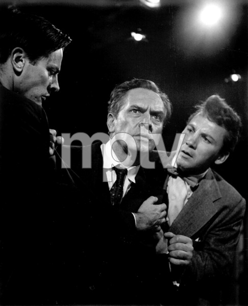 "Fredric March, Kevin McCarthy, Camerum MitchellFilm Set""Death Of A Salesman"" 1951Copyright John Swope Trust / MPTV - Image 2643_0022"