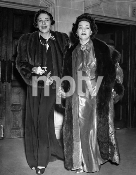 Fanny Brice and Nazimova attending THE TORCH BEARERS, 1938 - Image 2739_0743