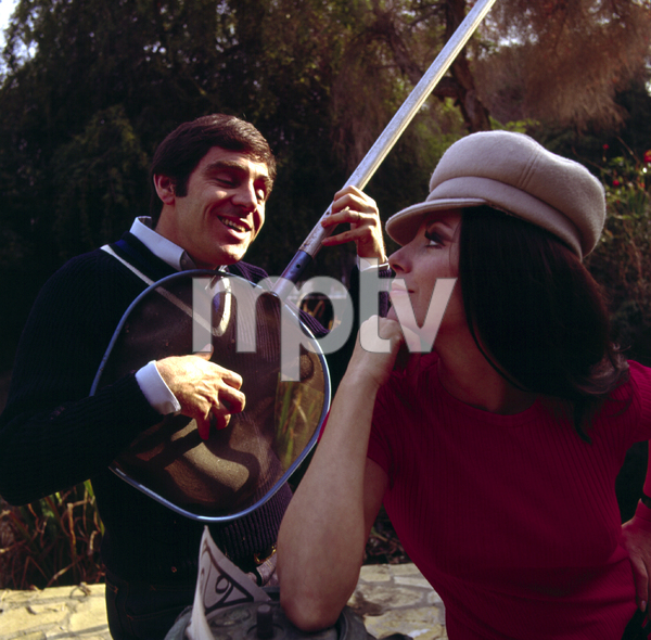 2749-12ANTHONY NEWLEY WITH HIS WIFE, JOAN COLLINS, 1966 © 1978 KEN WHITMOREMPTV - Image 2749_12