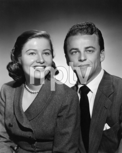 Nancy Olson and Alan Jay Lerner just after the wedding, a quiet affair in the bride