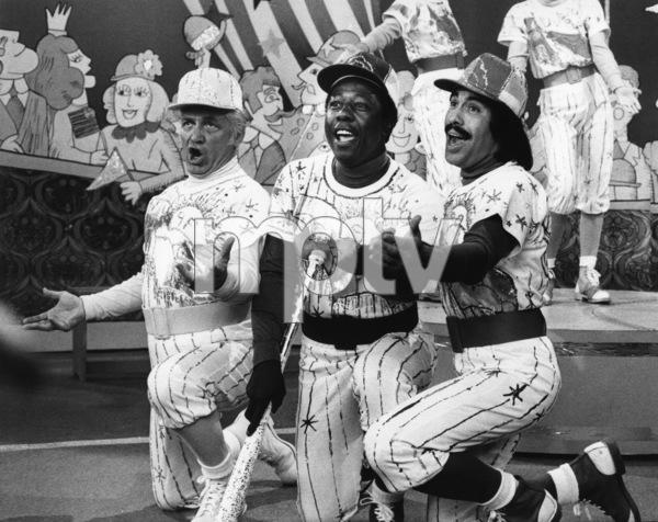 """Ted Knight, Hank Aaron and Tony Orlando on """"Tony Orlando and Dawn""""1975Photo by Gabi Rona - Image 2789_0006"""