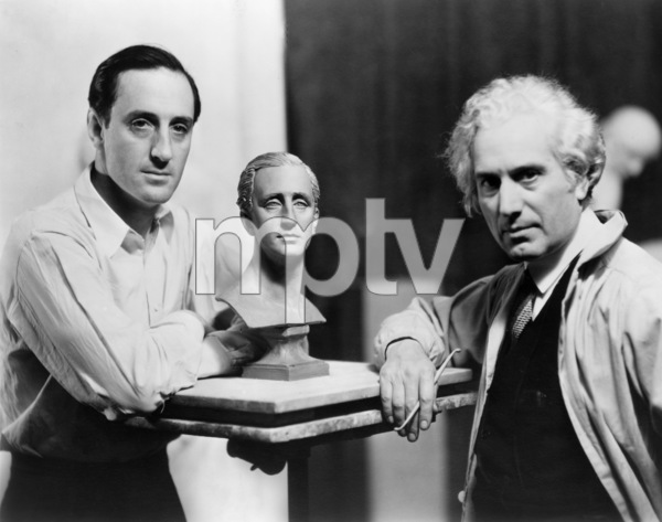 Basil Rathbone and sculptor Mario Korbel1936 - Image 2853_0051