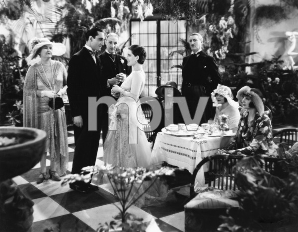 """Basil Rathbone with Norma Shearer and Hedda Hopper in """"The Last of Mrs. Cheyney""""1929** B.L. - Image 2853_0669"""