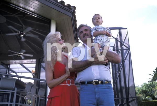 Burt Reynolds, son Quinton, and Loni Anderson1988 © 1988 Mario Casilli - Image 2868_0178