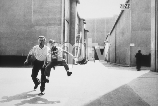 Mickey Rooneywith his son Teddy at MGM Studios1958 © 1978 Bob Willoughby - Image 2889_0100