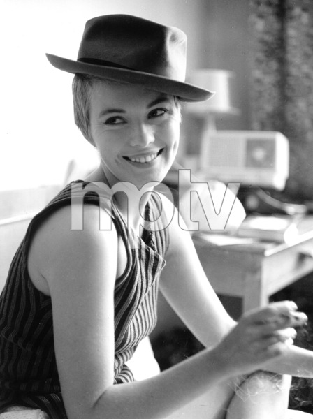 "Jean Sebergduring the filming of ""Breathless.""1959 / **I.V. - Image 2927_0051"