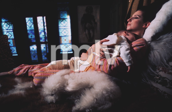 Barbra StreisandAt Home in New York with and son JasonCirca 1968 © 1978 Bob Willoughby - Image 2995_0242