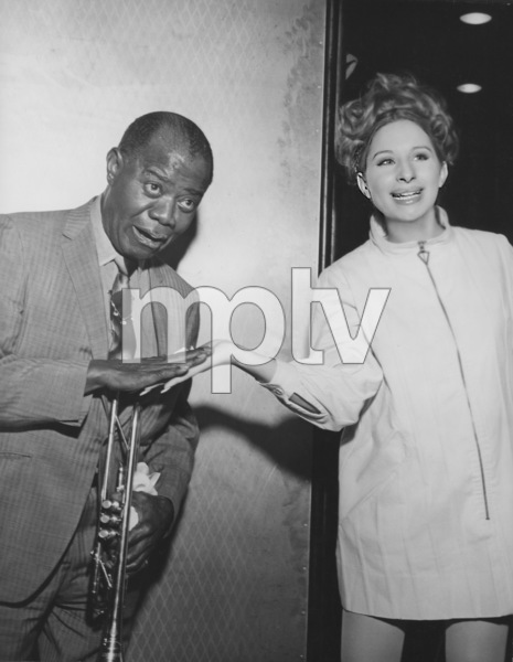 """Barbra Streisand, Louis Armstrong Rehearsing """"Hello Dolly""""1969 © 1978 Gunther - Image 2995_0260"""