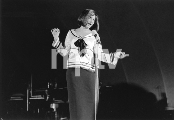 Barbra Streisand Performing at the Hollywood Bowl, 1963 © 1978 Chester Maydole - Image 2995_0285