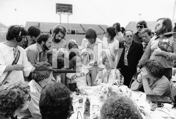 "Barbra Streisand during a press conferencefor ""A Star is Born""1976 Warner Bros. - Image 2995_0322"