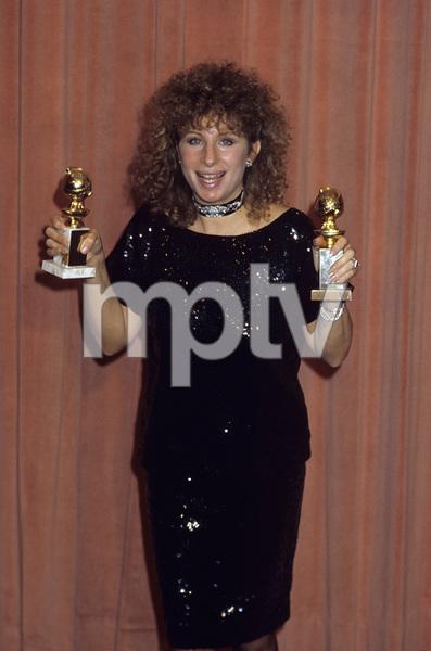 "Barbra Streisand at ""The 41st Annual Golden Globe Awards""1984 © 1984 Gary Lewis - Image 2995_0371"