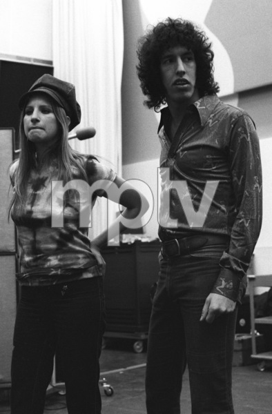 Barbra Streisand and Richard Perry in the studio at a recording session1971© 1978 Ed Thrahser - Image 2995_0435