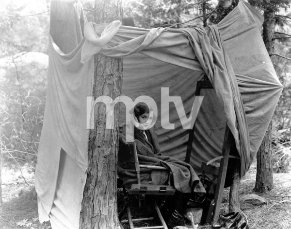 Constance Talmadge at her dressing tent in Yosemite, c. 1920.**I.V. - Image 3007_0003