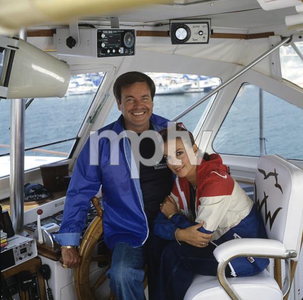"Natalie Wood and Robert Wagner aboard ""Splendour"" in Marina del Rey, CA July 7, 1978 © 1978 Jason Hailey - Image 3064_0852"