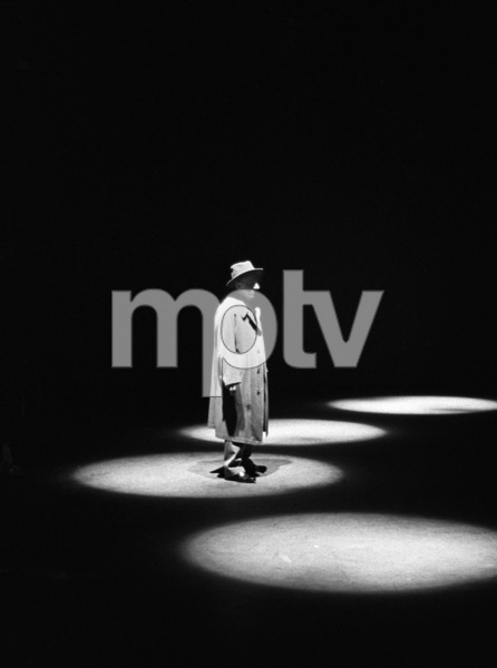 "Jimmy Durante during his signature spotlight closing for ""The Jimmy Durante Show""1952 © 1978 David Sutton - Image 312_56"