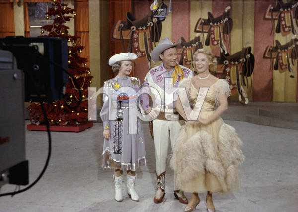 Roy Rogers, Dale Evans and Dinah Shore circa 1959Photo by Gerald Smith - Image 3187_0573