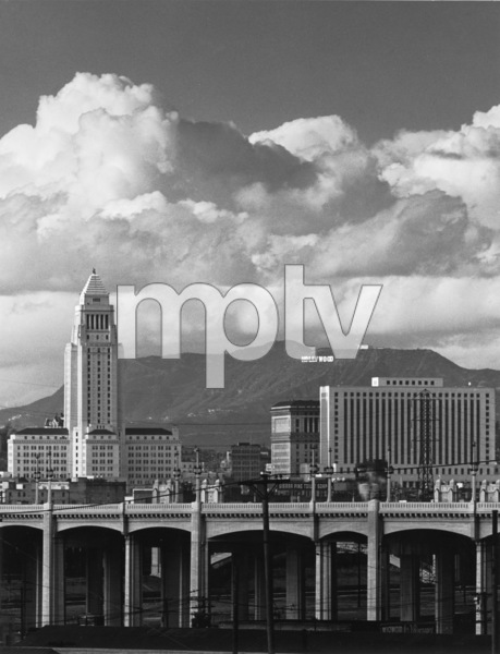 A view of downtown Los Angeles with the Hollywood Hills in the backgroundPhoto by Yavno - Image 3250_0052