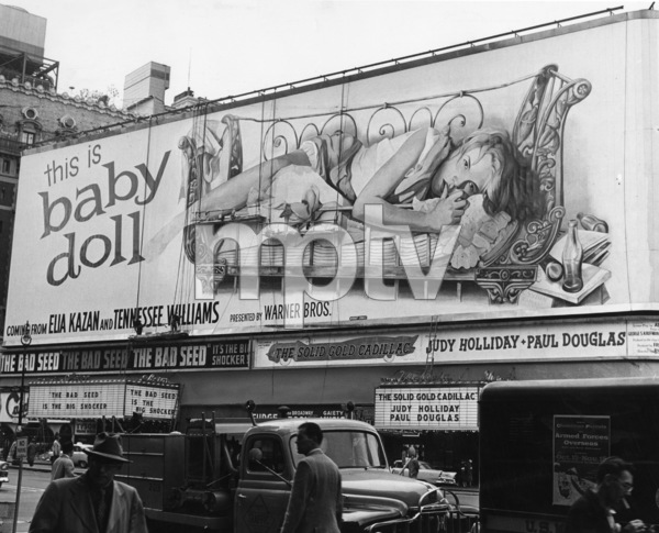 """""""Baby Doll"""" (Theater Marquee)1956 Warner Brothers - Image 3277_0007"""