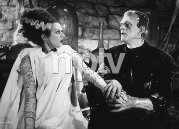 """The Bride Of Frankenstein"" Elsa Lanchester, Boris Karloff 1935 Paramount Photo by Roman Freulich - Image 3318_0009"