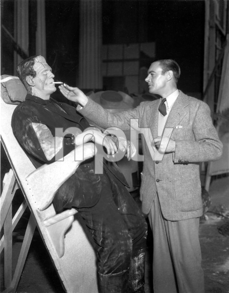 """Bride of Frankenstein""Boris Karloff and Director James Whale1935 Universal / **I.V. - Image 3318_0023"