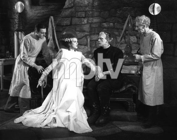 Boris Karloff, Elsa Lanchester, Colin Clive, Ernesst Thesiger, BRIDE OF FRANKENSTEIN, Universal, 1935, **I.V. - Image 3318_0030