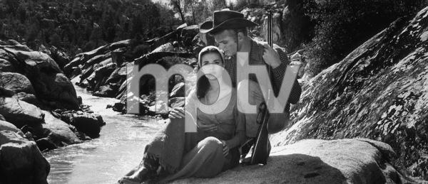"""The Burning Hills,""Natalie Wood & Tab Hunter.1956/Warner Bros.Photo by Jack Wood - Image 3323_0100"