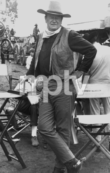 "John Wayne on location for ""Chisum,"" 1970. © 1978 David SuttonMPTV - Image 3349_14"