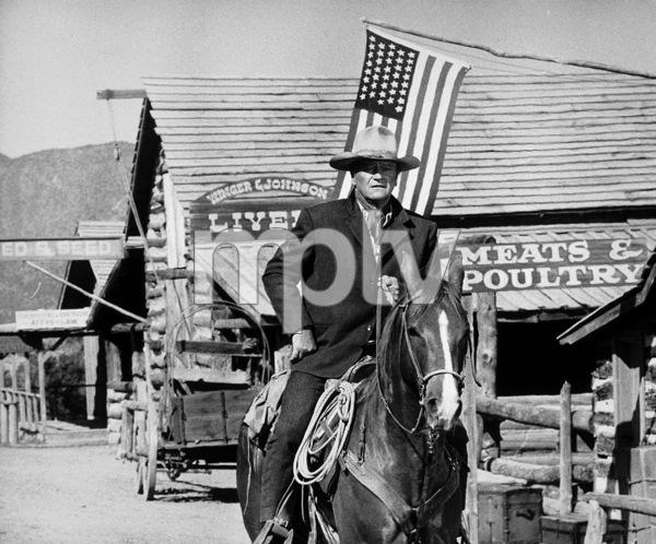 """The Cowboys,"" Warner Bros. 1972.Photo by Mel Traxel. - Image 3370_0104"