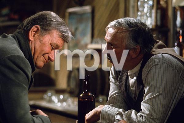 """The Cowboys,"" Warner Bros. 1971.John Wayne and Slim Pickens. © 1978 David Sutton - Image 3370_0165"