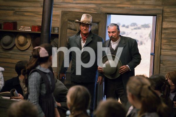 """The Cowboys,"" Warner Bros. 1971.John Wayne and Slim Pickens. © 1978 David Sutton - Image 3370_0166"