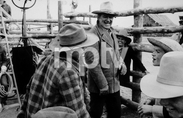 """The Cowboys,"" Warner Bros. 1971.John Wayne and cast on locaton. © 1978 David Sutton - Image 3370_0608"