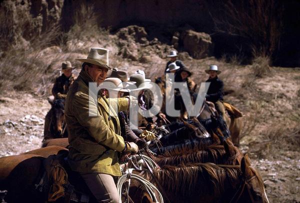 """The Cowboys,"" Warner Bros. 1971.John Wayne and his boys. © 1978 David Sutton - Image 3370_0617"