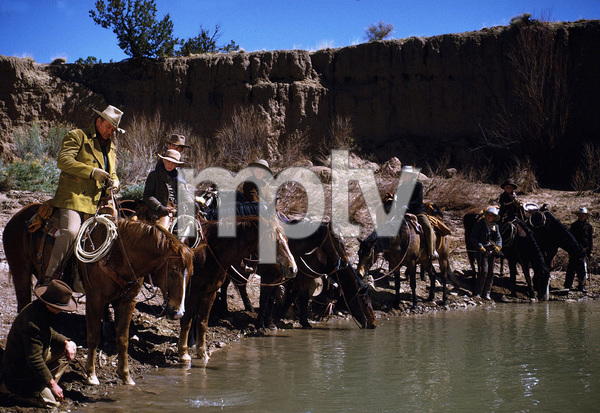 """The Cowboys,"" Warner Bros. 1971.John Wayne and his boys. © 1978 David Sutton - Image 3370_0629"