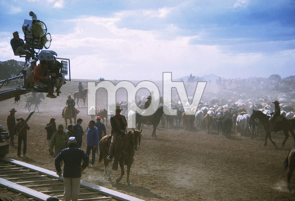 """The Cowboys"" Director, Mark Rydell, and John Wayne during filming 1971 Warner Brothers © 1978 David Sutton - Image 3370_0634"