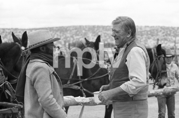 """The Cowboys""Roscoe Lee Browne, John Wayne1972 © 1978 David Sutton - Image 3370_0801"