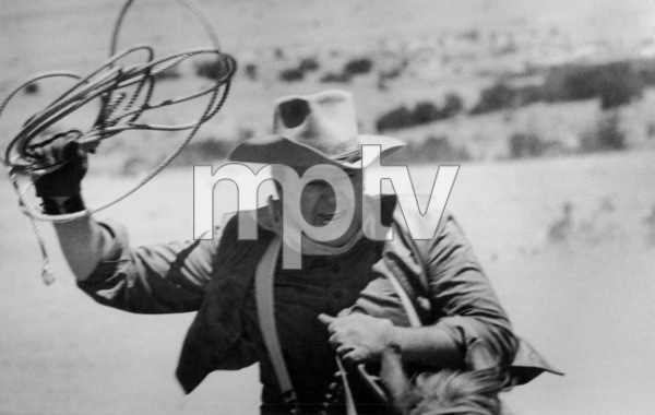 "John Wayne riding a horse for ""The Cowboys,"" 1971. © 1978 David SuttonMPTV - Image 3370_15"