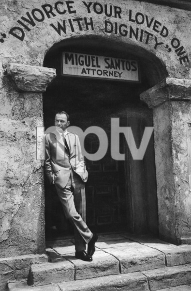 """Frank Sinatra on the set of """"Marriage on the Rocks,"""" 1965. © 1978 Bob WilloughbyMPTV - Image 337_1126"""