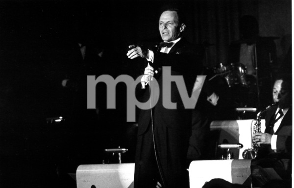 Frank Sinatra performing at the Sands Hotel, Las Vegas, circa 1962. © 1978 Ted AllanMPTV - Image 337_1192