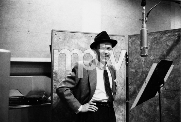 """Frank Sinatra at """"The Man with the Golden Arm"""" recording session, Hollywood, CA, 1955. © 1978 Bob Willoughby / MPTV - Image 337_1683"""