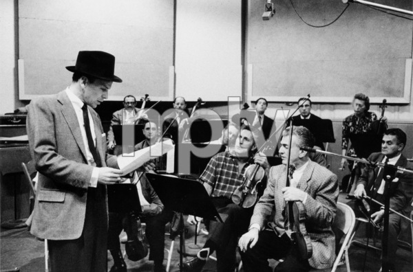 """Frank Sinatra at """"The Man with the Golden Arm"""" recording session, Hollywood, CA, 1955. © 1978 Bob Willoughby / MPTV - Image 337_1686"""