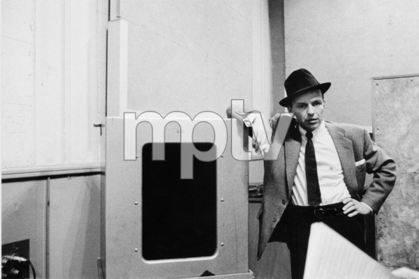 """Frank Sinatra at """"The Man with the Golden Arm"""" recording session, Hollywood, CA, 1955. © 1978 Bob Willoughby / MPTV - Image 337_1688"""