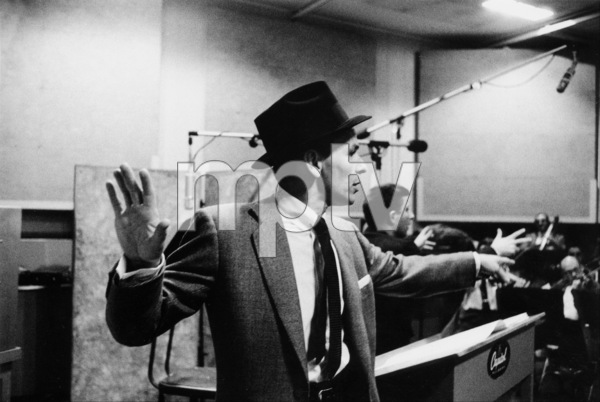 "Frank Sinatra at ""The Man with the Golden Arm"" recording session, Hollywood, CA, 1955. © 1978 Bob Willoughby / MPTV - Image 337_1689"