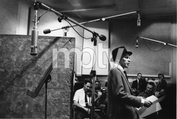 """Frank Sinatra at """"The Man with the Golden Arm"""" recording session, Hollywood, CA, 1955. © 1978 Bob Willoughby / MPTV - Image 337_1690"""