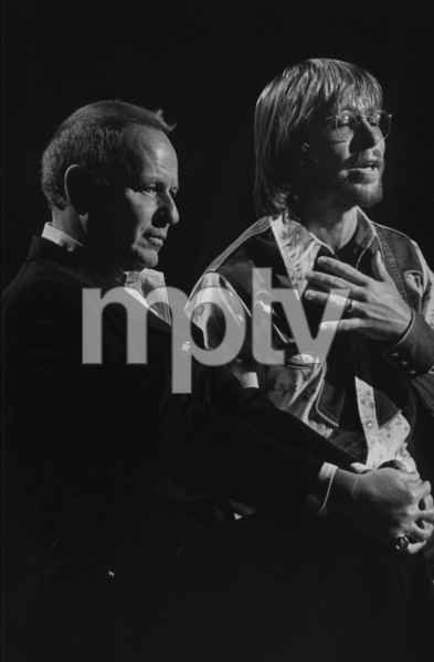 "Frank Sinatra and John Denver on the TV special, ""Sinatra and Friends,"" 1977. © 1978 Bud Gray MPTV - Image 337_1719"