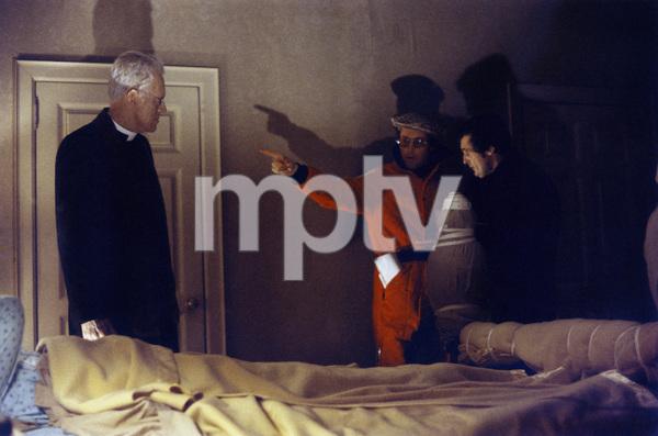 """The Exorcist"" Linda Blair, Max von Sydow, director William Friedkin, Jason Miller 1973 Warner Brothers ** I.V. - Image 3420_0421"
