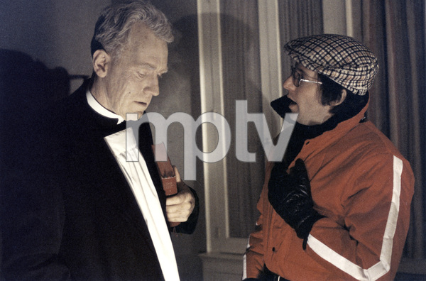 """""""The Exorcist"""" Max von Sydow, director William Friedkin 1973 Warner Brothers ** I.V. - Image 3420_0423"""
