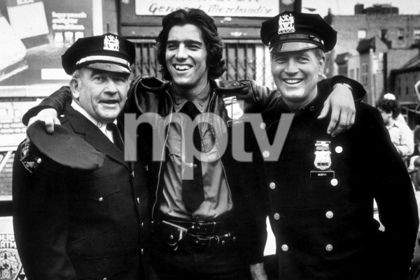 """Paul Newman, Ken Wahl, &Ed Asner in """"Fort Apache, The Bronx,""""1980. - Image 3437_0010"""