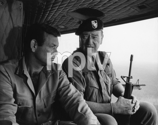 """The Green Berets""David Janssen, John Wayne1968 Warner Brothers © 1978 David Sutton - Image 3469_0196"