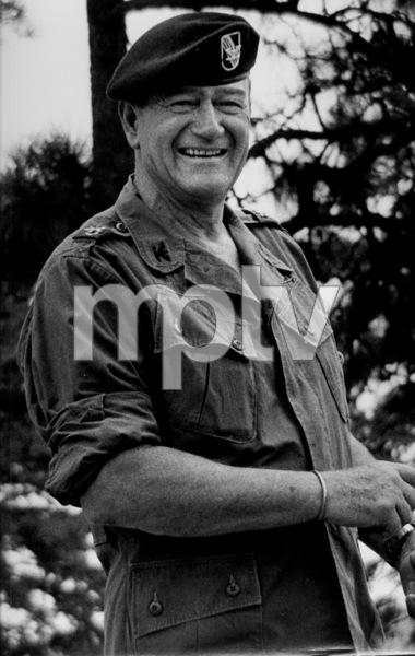 "John Wayne on location for ""The Green Berets,"" 1967. © 1978 David SuttonMPTV - Image 3469_13"