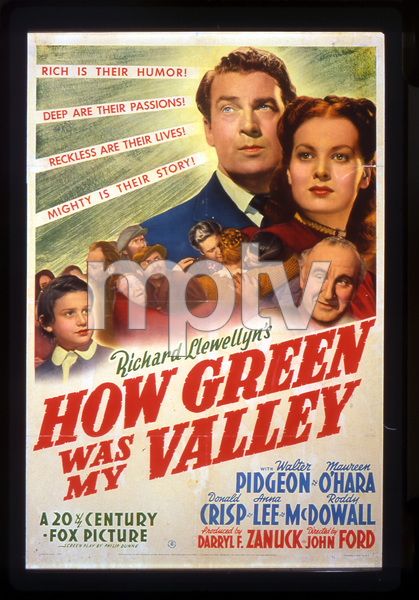 """""""How Green Was My Valley""""Poster1941 20th Century Fox**I.V. - Image 3493_0004"""